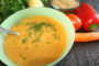 Einkorn cream soup with vegetables